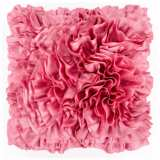 """Surya 18"""" Square Dusty Coral Pink Ruffled Accent Pillow"""