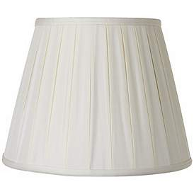 Pleated Oyster Silk Empire Lamp Shade 7x12x9 Spider