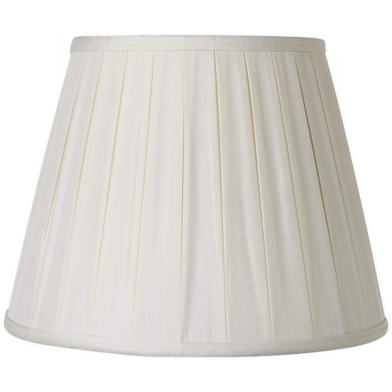 Pleated Oyster Silk Empire Lamp Shade 6x10x8 (Spider)