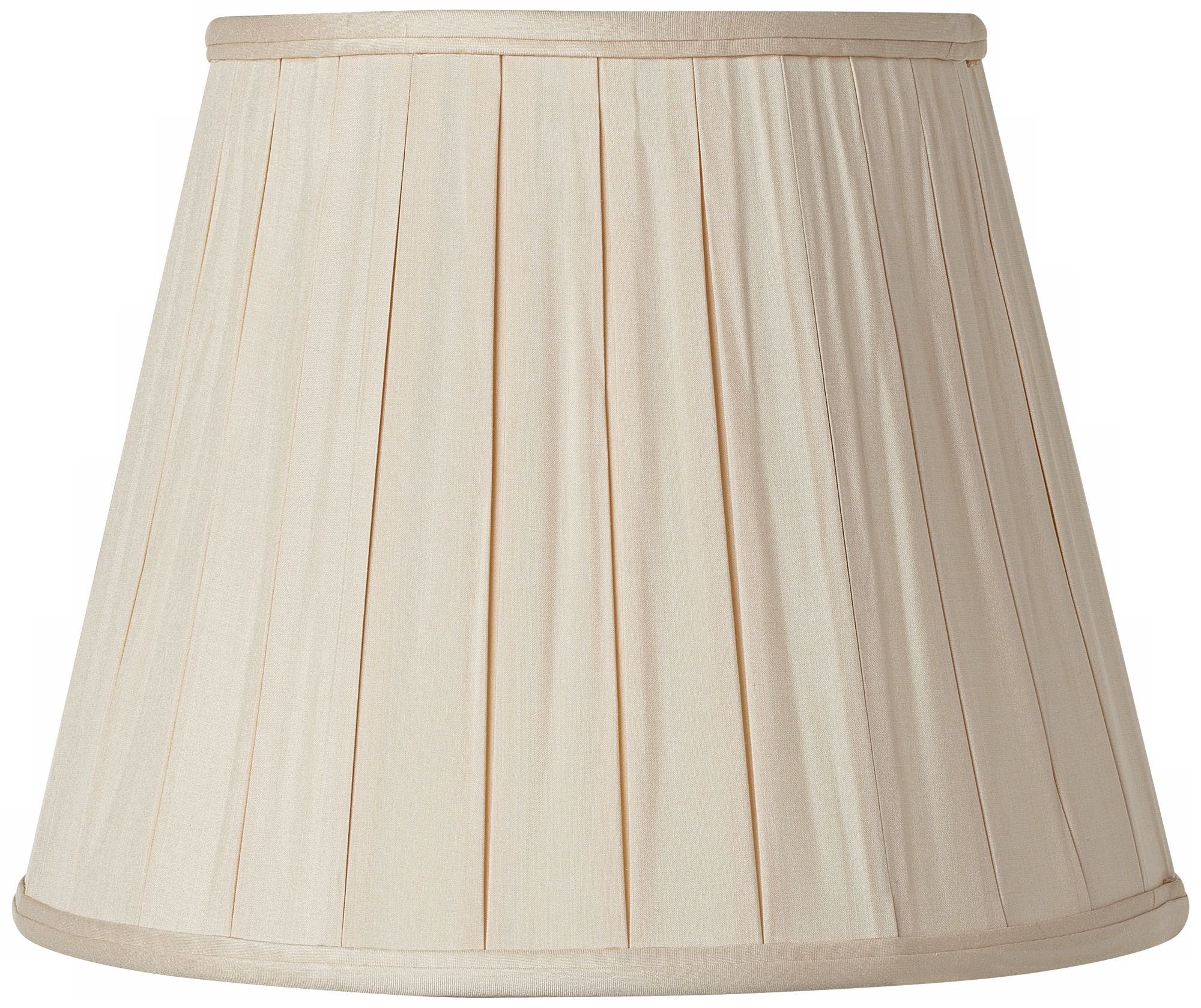 Pleated Sand Silk Empire Lamp Shade 10.5x16x12 (Spider)