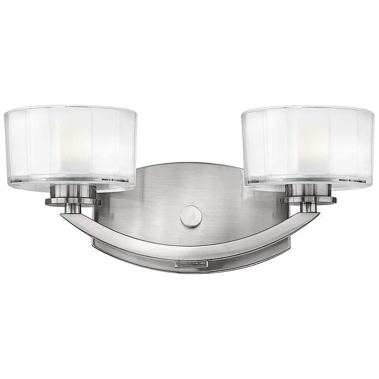 """Hinkley Meridian 14"""" Wide Brushed Nickel Bathroom Light"""