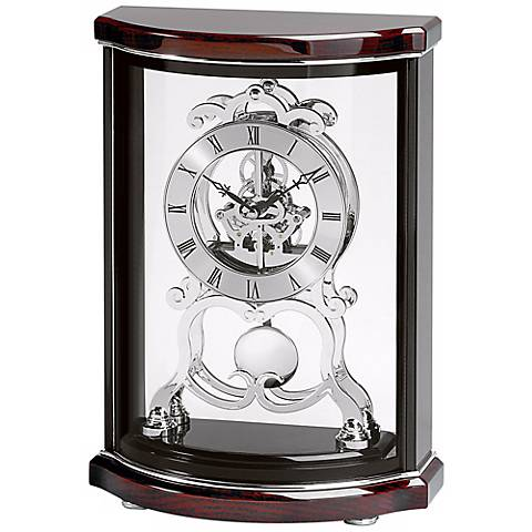 "Wentworth Glossy 12"" High Bulova Mantel Clock"