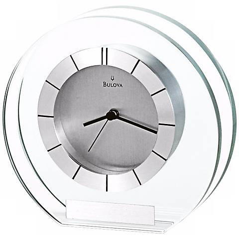 "Accolade 6"" Wide Bulova Table Clock"