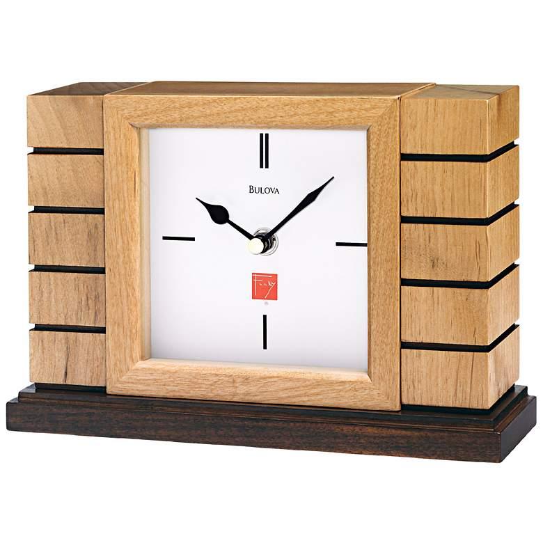 "Usonian II 9 1/2"" Frank Lloyd Wright Bulova Mantel Clock"
