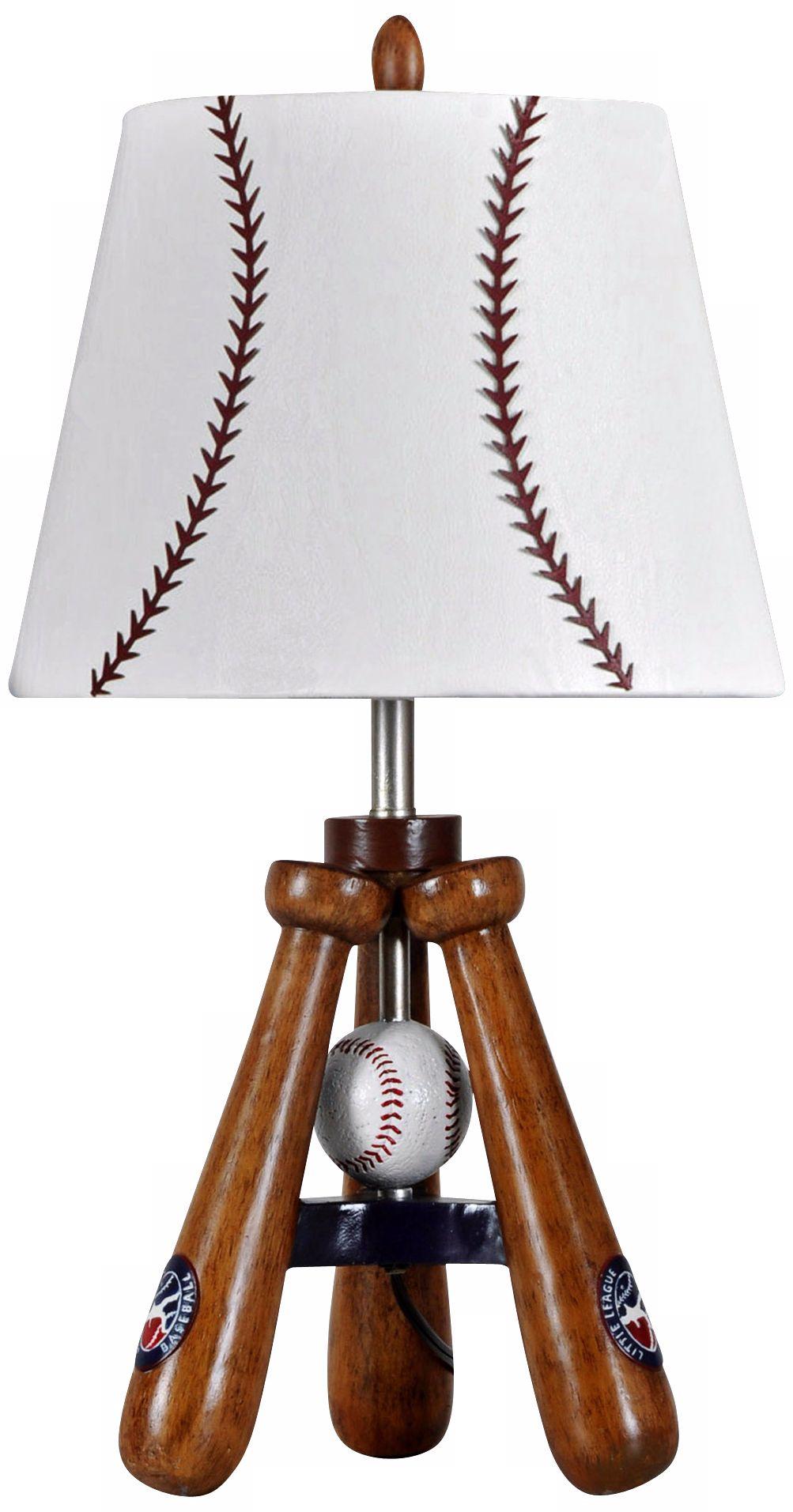Kidd Valley Baseball Bat And Ball Tripod Accent Lamp