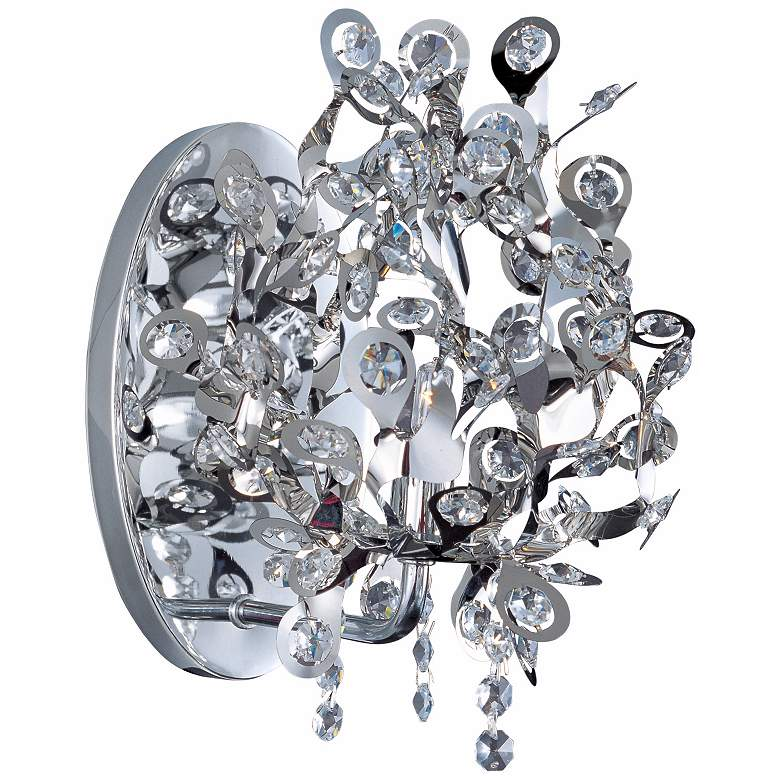 "Maxim Comet Collection 10"" High Chrome Wall Sconce"