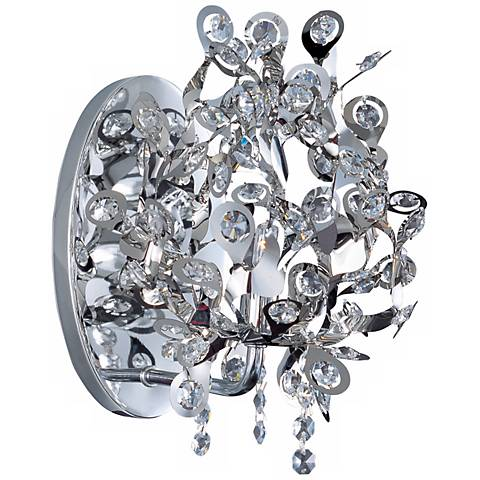 """Maxim Comet Collection 10"""" High Chrome Wall Sconce"""