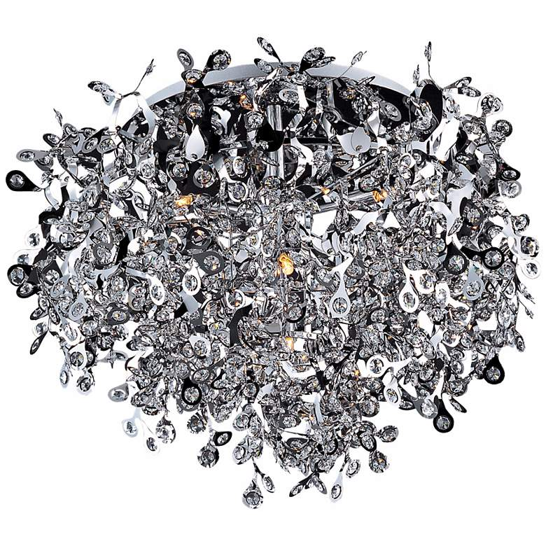 "Maxim Comet Collection 25"" Wide Chrome Ceiling Light Fixture"
