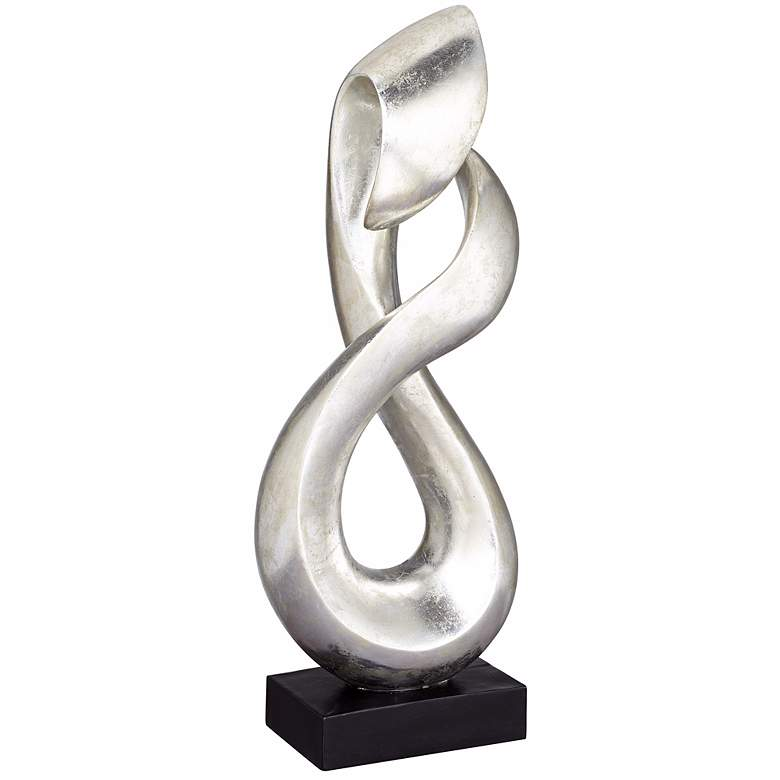 "Open Infinity 26 1/4"" High Sculpture in Silver Finish"