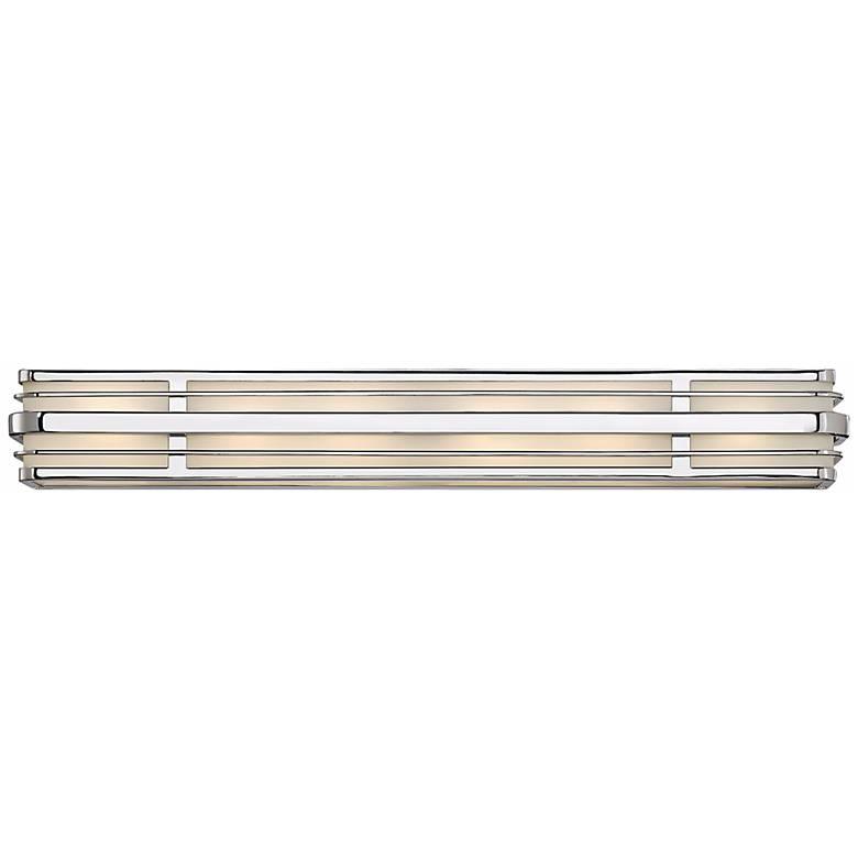 """Hinkley Winton 6-Light 37 1/4"""" Wide Chrome Vanity Light"""