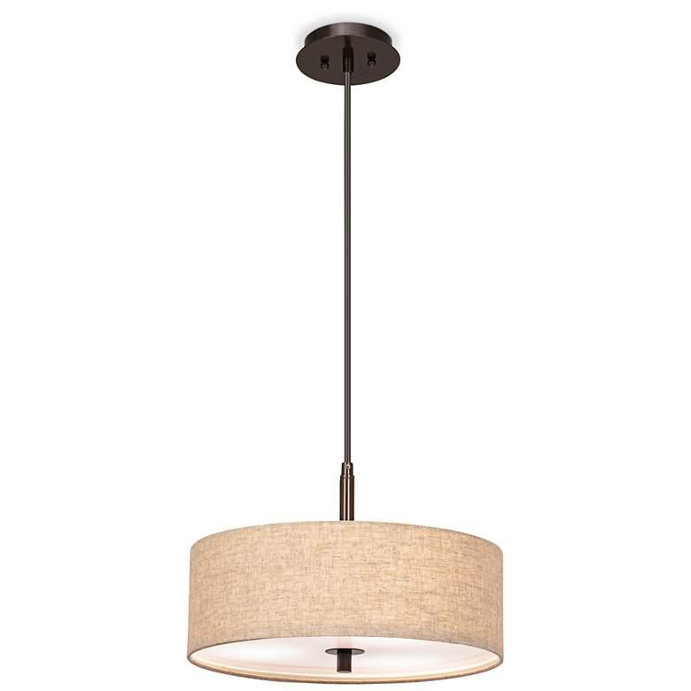 """Possini Euro Design Cream Drum 16"""" W Pendant Light"""