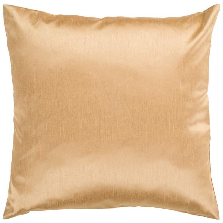 "Surya 18"" Square Cumin Yellow Throw Pillow"