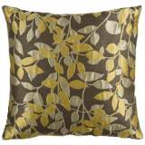"Surya 18"" Square Split Pea Green Throw Pillow"