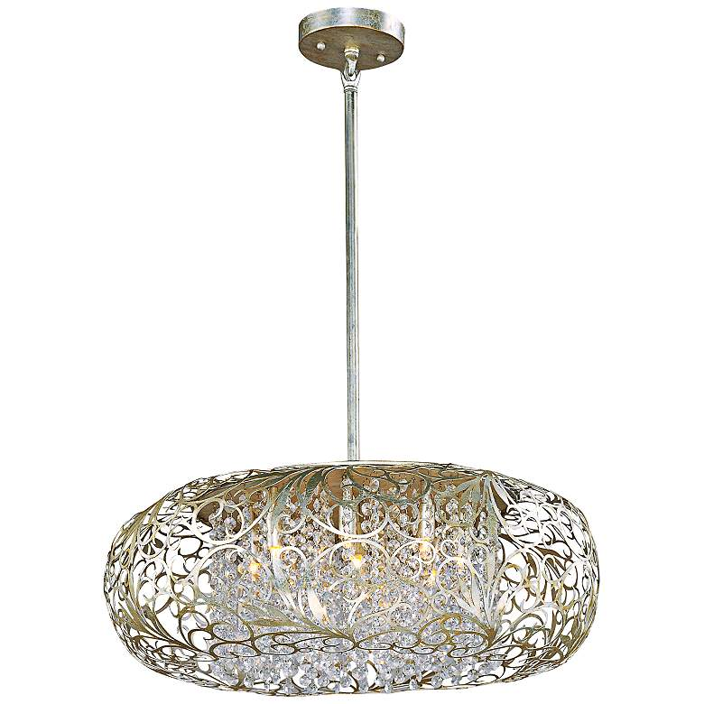 "Maxim Arabesque 24"" Wide Golden Silver Pendant Light"