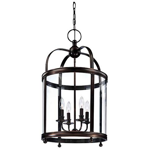 "Hudson Valley Larchmont 16 1/2"" Wide Bronze Pendant Light"