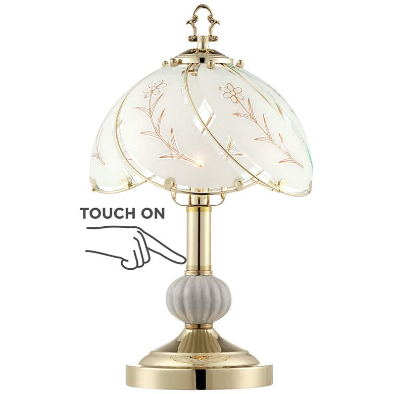 """Polished Brass 15"""" High Touch On-Off Accent Table Lamp"""