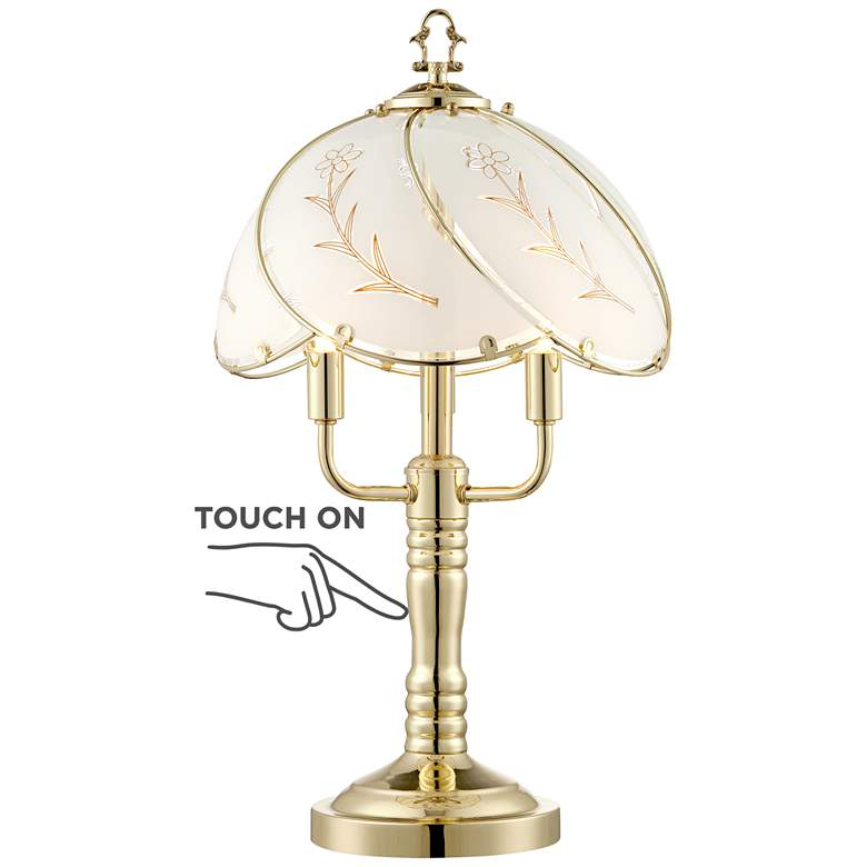 """Flower Petal 19 1/2"""" High 3-Light Touch On-Off Table Lamp"""