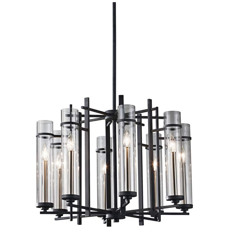 """Feiss Ethan 26""""W Forged Iron 1-Tier 8-Light Chandelier"""