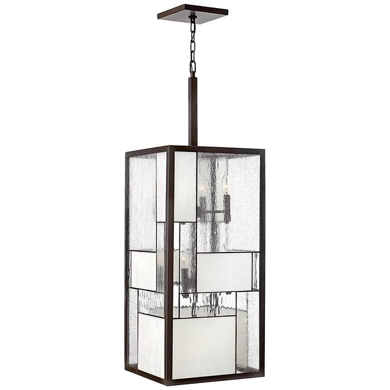 """Hinkley Mondrian 12-Light 42"""" High Bronze Pendant Light"""