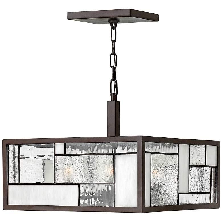"""Hinkley Mondrian 16"""" Wide Buckeye Bronze Pendant Light"""