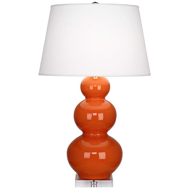Robert Abbey Pumpkin Triple Gourd Ceramic Buffet Lamp