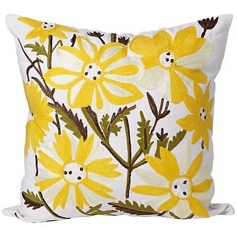 """Bouquet 18"""" Square Floral Print Decorative Throw Pillow"""