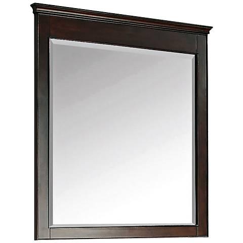 "Avanity Windsor 38"" High Walnut Wood Frame Wall Mirror"