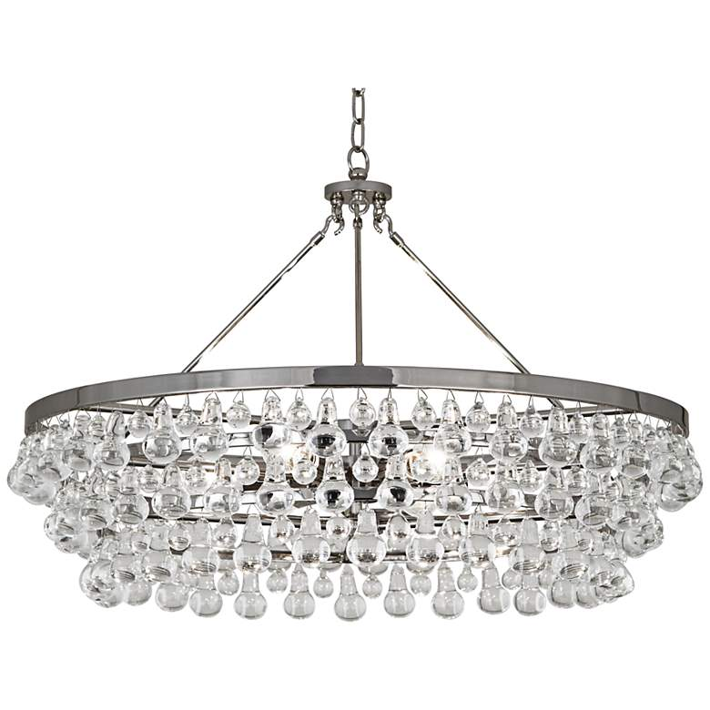 "Robert Abbey 35""W Bling 6-Light Large Crystal Chandelier"