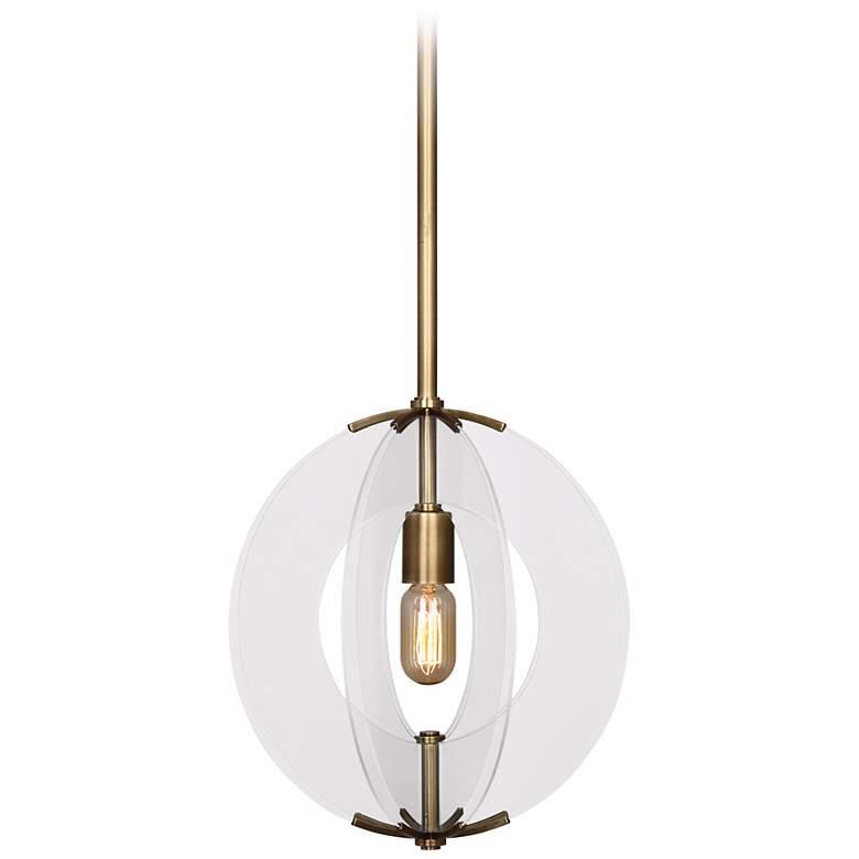 "Robert Abbey Latitude 13 1/4"" Wide Aged Brass Pendant Light"