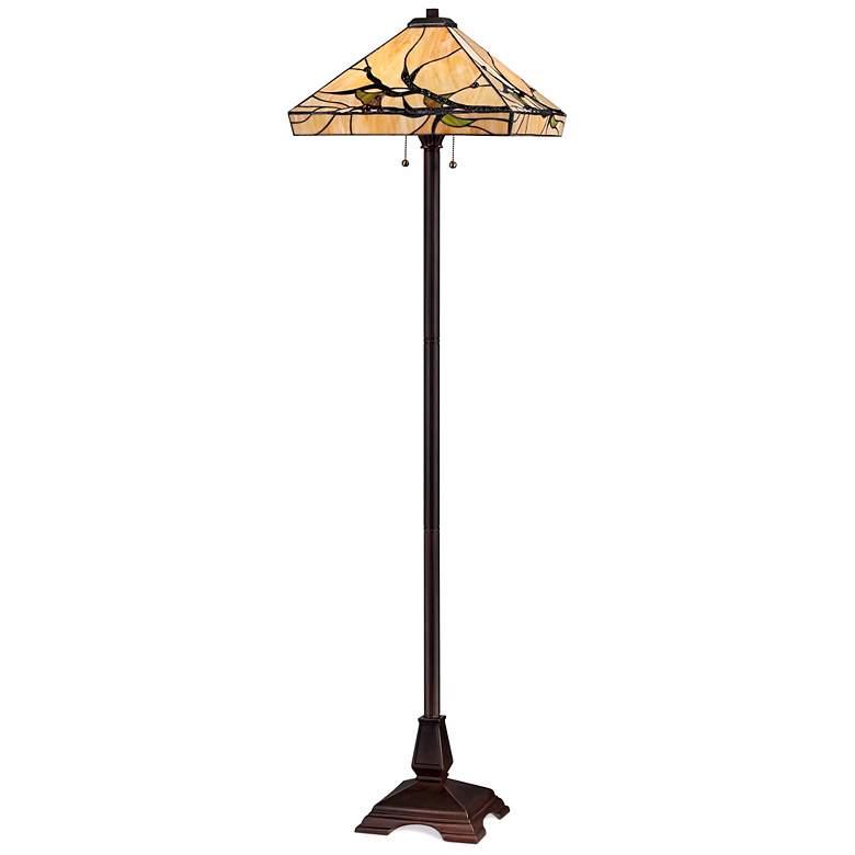 Robert Louis Tiffany Budding Branch Floor Lamp