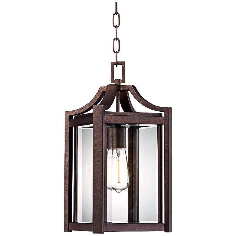 """Rockford Collection 17"""" High Bronze Outdoor Hanging Light"""