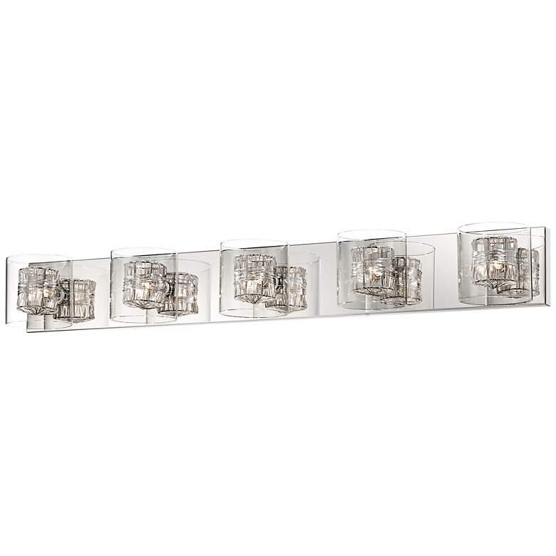 "Possini Euro Wrapped Wire 39"" Wide Chrome Bathroom Light"