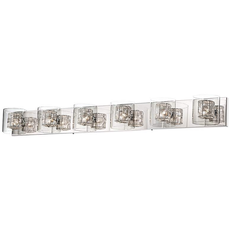 "Possini Euro Wrapped Wire 47 3/4"" Wide Chrome Bathroom Light"