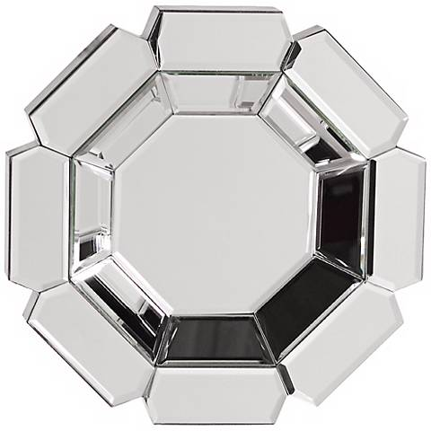 "Howard Elliott Charisma 14"" High Octagonal Wall Mirror"