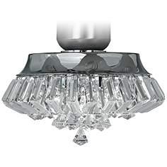 Ceiling fan light kits lamps plus deco crystal chrome universal ceiling fan light kit aloadofball Images
