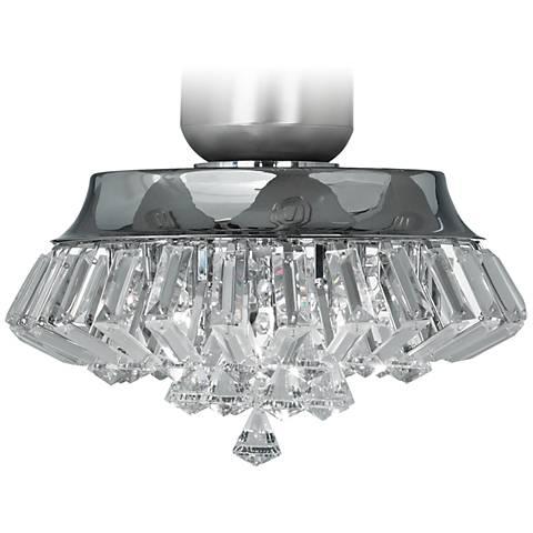 Deco Crystal Chrome Universal Ceiling Fan Light Kit - #V5824 | Lamps ...