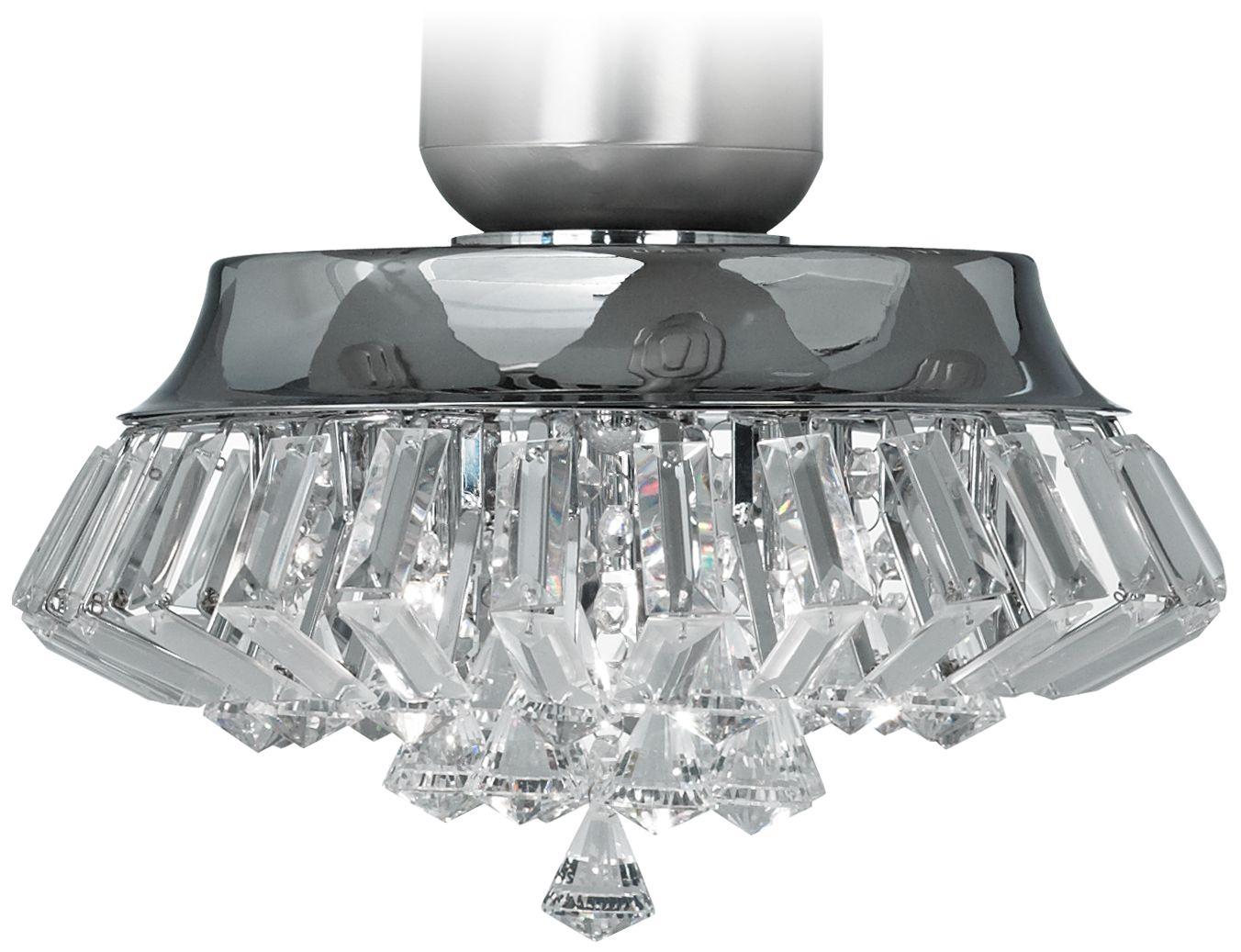 Captivating Deco Crystal Chrome Universal Ceiling Fan Light Kit