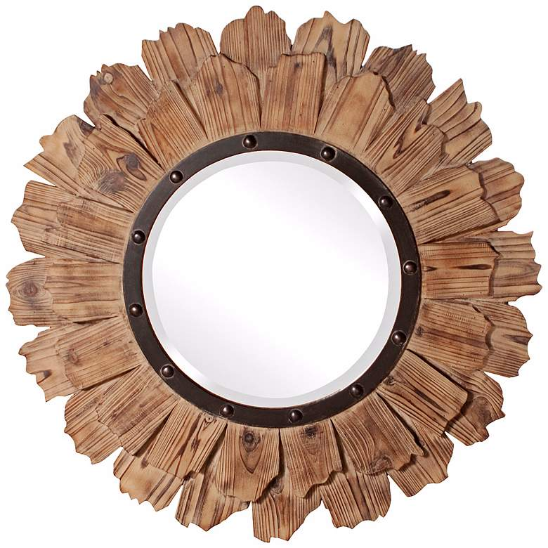 "Howard Elliott 35"" Round Hawthorne Wall Mirror"