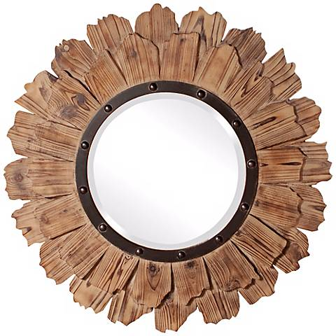 "Howard Elliott Collection 35"" Round Hawthorne Wall Mirror"