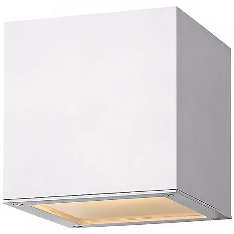 "Hinkley Kube Downlight 6"" High White Wall Light"