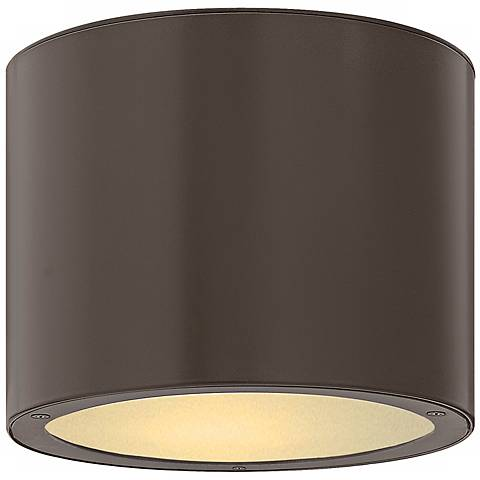 "Hinkley Luna Circle 8"" Wide Bronze Outdoor Ceiling Light"