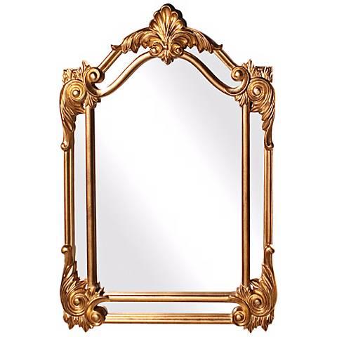 "Howard Elliott Cortland 47"" High Gold Decorative Wall Mirror"