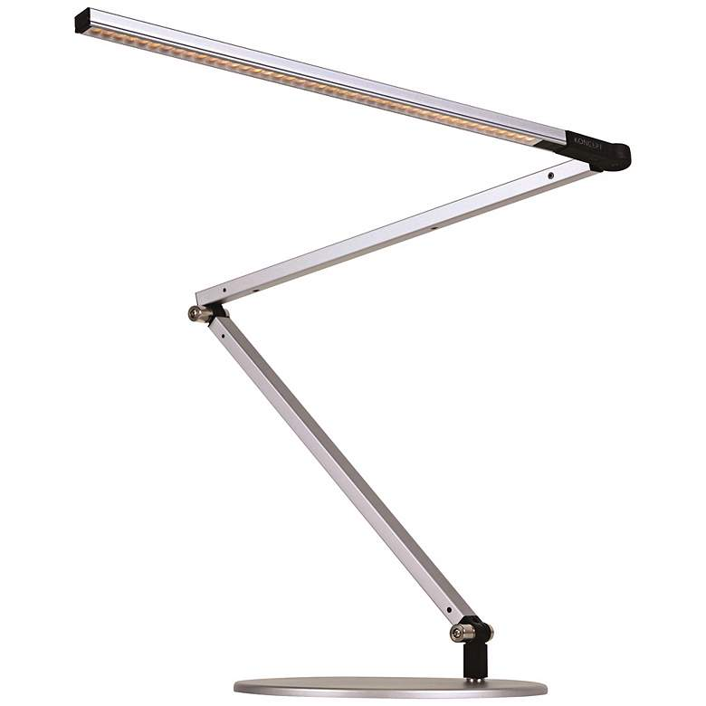 Gen 3 Z-Bar Warm LED Desk Lamp in Silver with Touch Dimmer