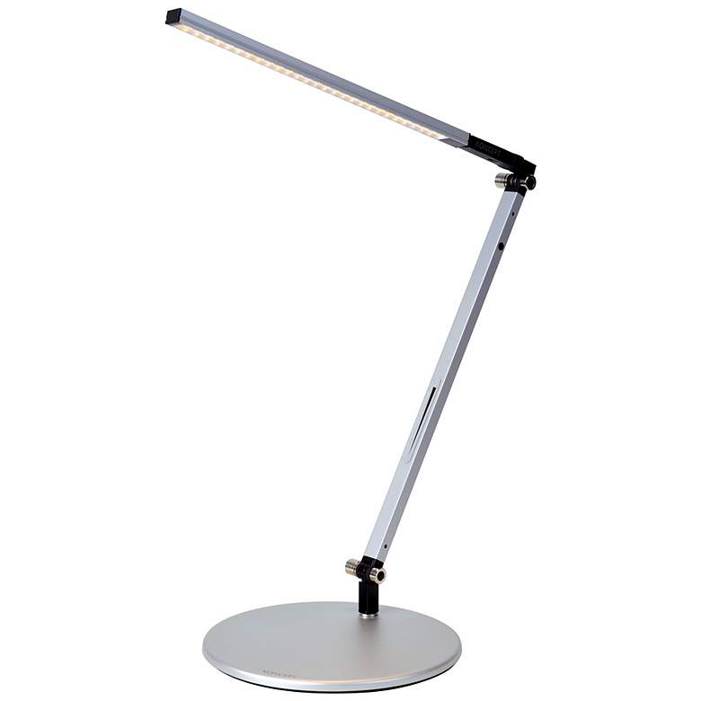 Gen 3 Silver Solo Z-Bar Daylight LED Touch Dimmer Desk Lamp