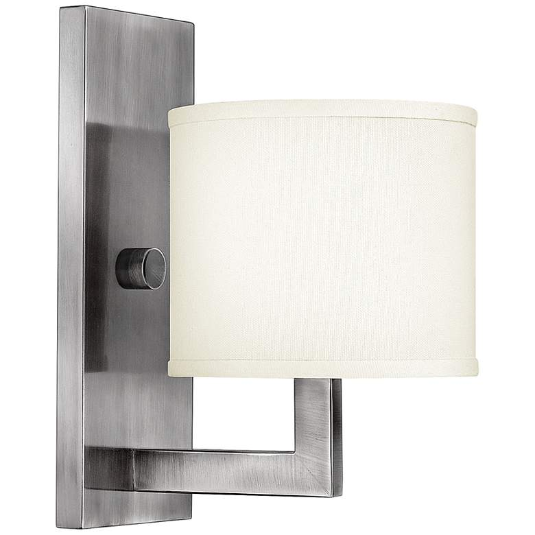 "Hinkley Hampton 12"" High Small Antique Nickel Wall"
