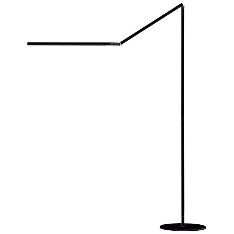 Gen 3 Z-Bar Daylight Touch Dimmer LED Floor Lamp in Black