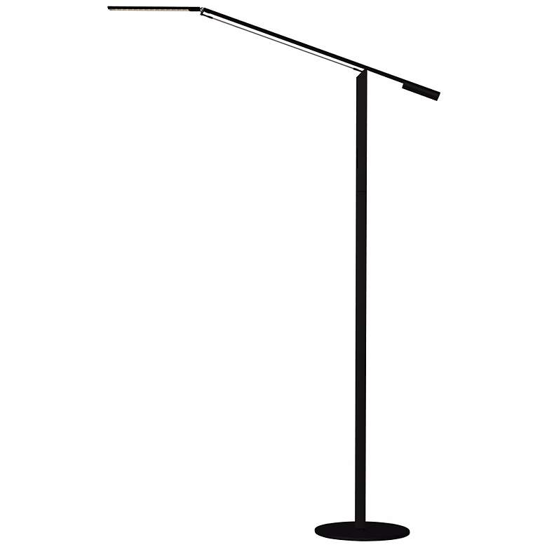 Gen 3 Equo Warm Light LED Black Floor Lamp with Touch Dimmer