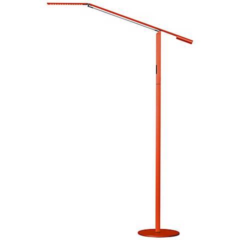 Gen 3 Orange Equo Daylight LED Touch Dimmer Floor Lamp