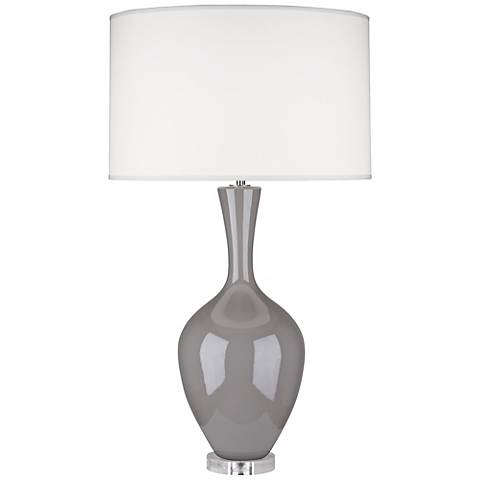 Robert Abbey Audrey Smokey Taupe Ceramic Buffet Lamp