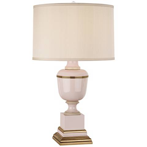 Mary McDonald Annika Cream Blush and Brass Table Lamp